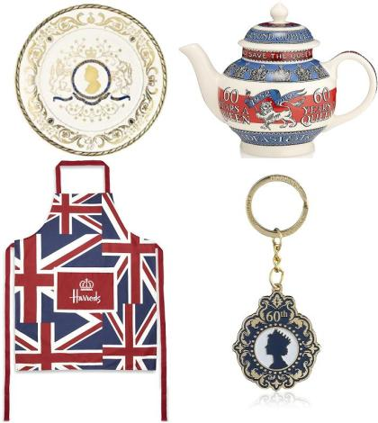 Diamond Jubilee themed home products from Harrods