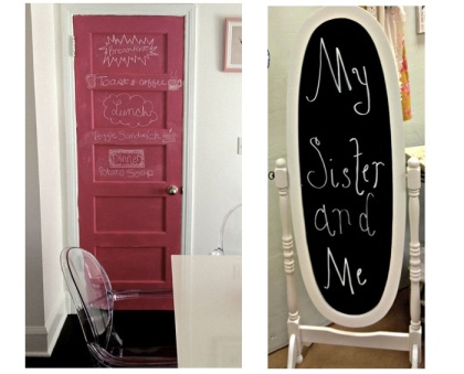 examples of using chalkboard paint