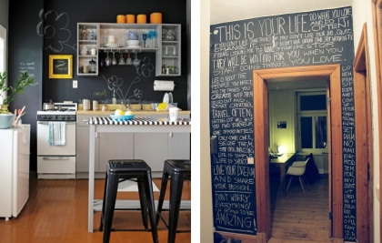 examples of using chalkboard paint in large spaces