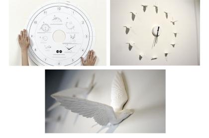 Swallow X Clock by Haoshi Design