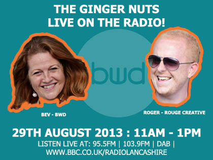 bev woods bwd and roger moore rouge creative on radio
