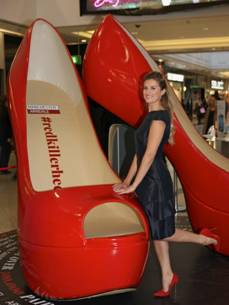 Giant Stiletto Heels at Manchester Arndale Centre