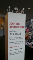 5wordprotest Birmingham Repertory Theatre and Epic Encounters