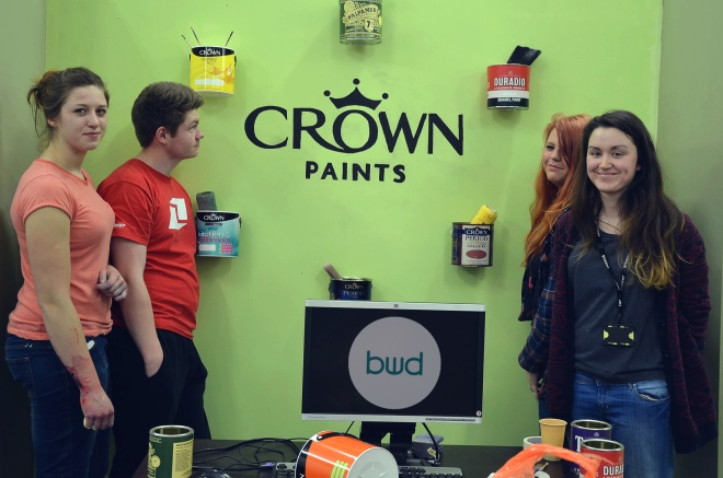 Crown Paints & Preston's College Work With Beverly Woods