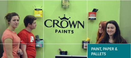 bwd paint paper and pallets