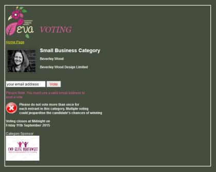 Vote bwd for the evas2015