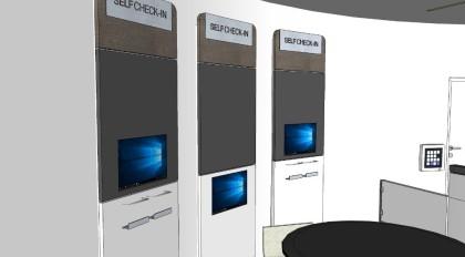 Self-check-in units design