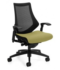 SPREE TASK CHAIR Stretch back designed to fully support in multiple positions. Spree™ allows you to recline comfortably while feeling fully embraced by the wide lumbar area. Shoulders and arms are free to shift and twist in any position.