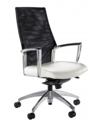 Above ACCORD TASK CHAIR With a detailed sling back polished aluminium arm, the rolled and pleated upholstery is available in an array of fabrics. Also available in leather.